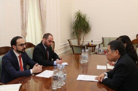 Вице-премьер Тигран Авинян принял посла Китая в Армении Тиана Эрлуна