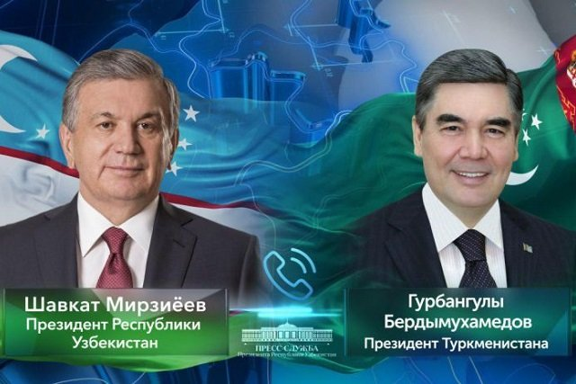 Президенты Узбекистана и Туркменистана поговорили по телефону