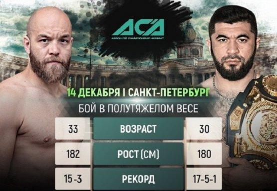 Чемпион АСА Ягшимурадов проведёт защиту пояса против Буторина