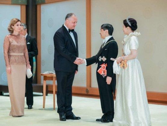 Додон принял участие в церемонии интронизации нового императора Японии