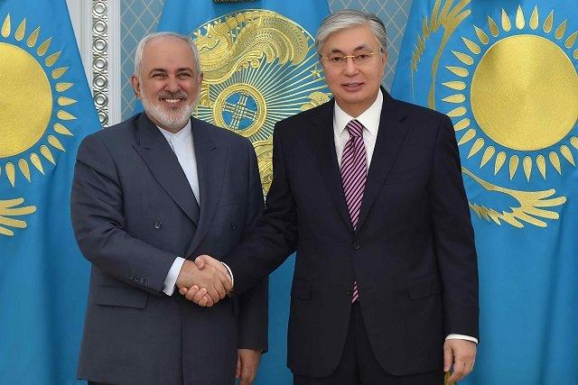 Токаев встретился с главой МИД Ирана