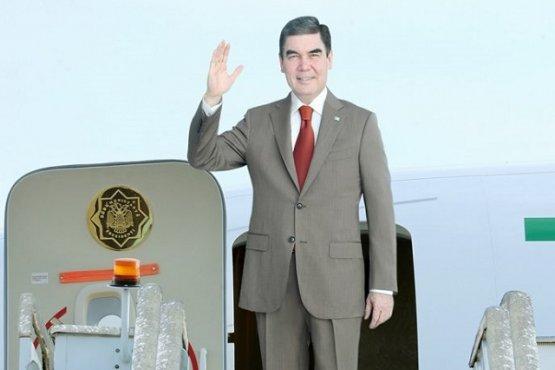 Глава Туркменистана вылетел с официальным визитом в Италию
