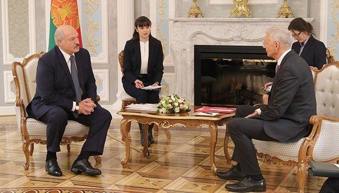 Состоялась встреча президента Белоруссии и премьер-министра Латвии
