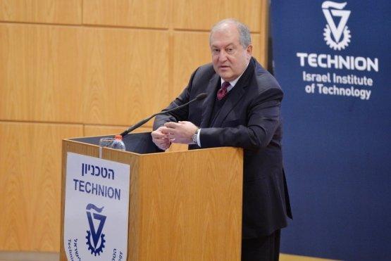 Президент Армении побывал в технологическом институте Technion