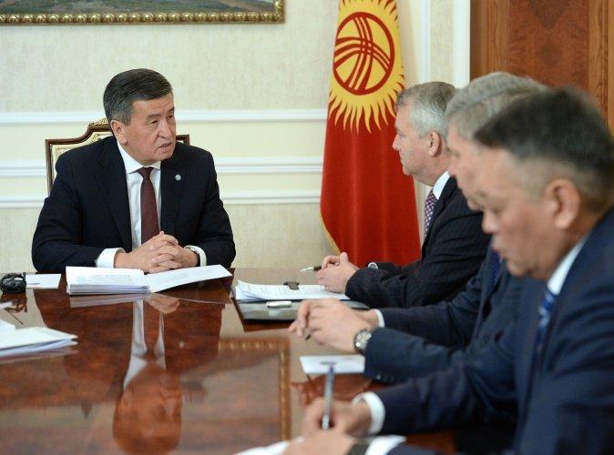 Президент Киргизии встретился с бизнес-омбудсменом Робином Орд-Смитом