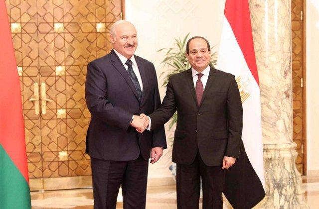 Состоялись переговоры президентов Белоруссии и Египта