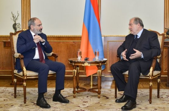 Состоялась первая встреча президента и премьер-министра Армении в 2020 году