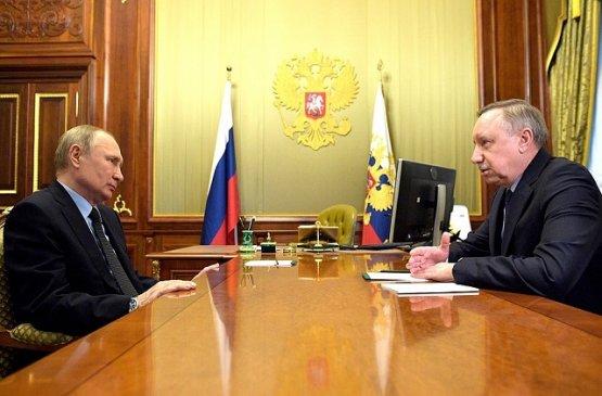 Президент России встретился с губернатором Санкт-Петербурга