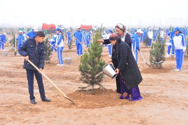 Масштабная «зелёная» акция прошла в Туркменистане