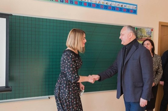 Президент Молдовы посетил город Костешть Рышканского района