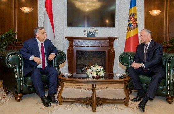 Президент Молдовы провёл встречу с премьер-министром  Венгрии