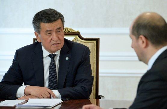 Президент Киргизии провёл встречу с представителем валютного фонда