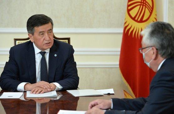 Глава Кыргызстана встретился с министром здравоохранения