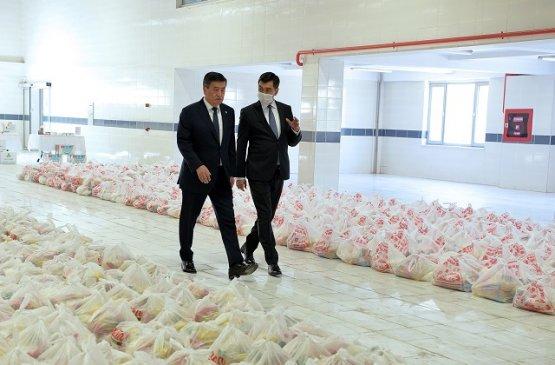 Президент Киргизии ознакомился с деятельностью по поддержке нуждающихся граждан