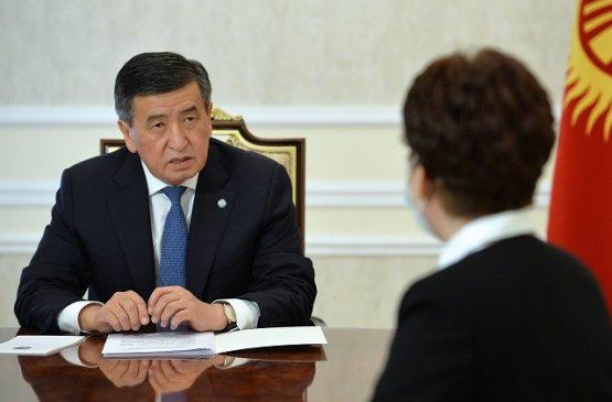 Президент Киргизии встретился с главой фонда медицинского страхования
