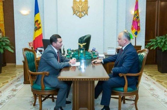 Президент Молдовы встретился с депутатом от Тараклийского района