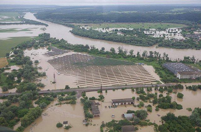 На западе Украины произошли сильные наводнения