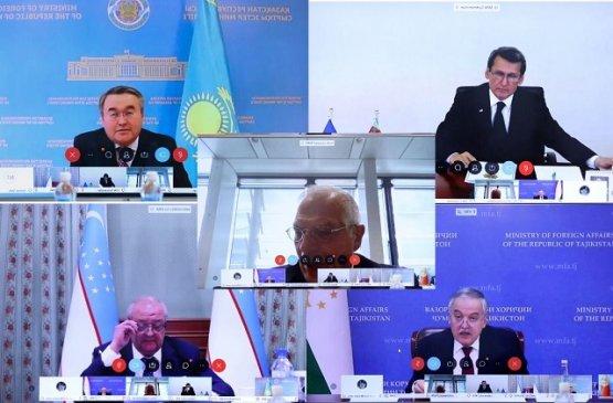Главы МИД стран ЦА и ЕС обсудили совместные действия по устранению последствий COVID-19