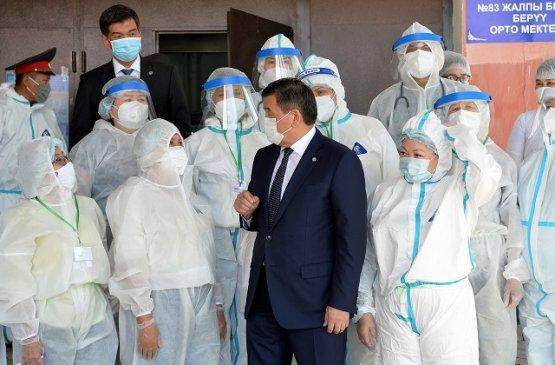 Президент Киргизии посетил открывшийся дневной стационар по оказанию первичной медицинской помощи
