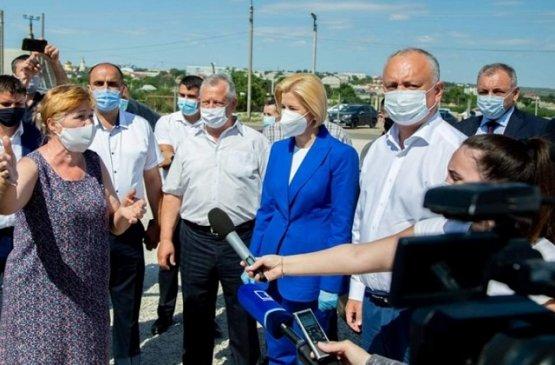 Президент Молдовы ознакомился с нанесённым ущербом проливных дождей в Гагаузии