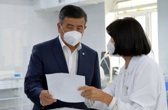 Президент Киргизии побывал в Чуйской области с рабочим визитом