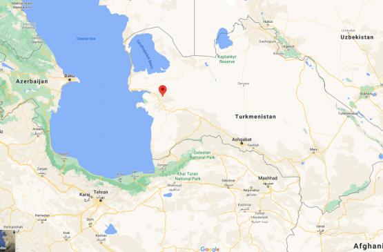 На ирано-туркменской границе произошло землетрясение магнитудой 5,2 балла