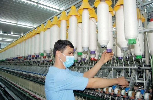 Хлопкопрядильная фабрика в Туркменистане произвела продукцию на $7 млн
