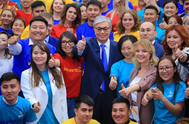 Президент Казахстана обратился к волонтёрам