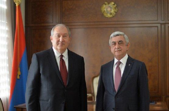 Президент Армении провёл встречу с экс-главой армянского государства
