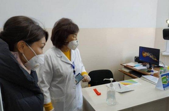 Заместитель главы правительства Киргизии ознакомилась с состоянием больниц  в Иссык-Кульской области