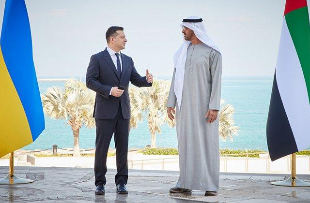 Президент Украины Зеленский встретился с наследным принцем Абу-Даби