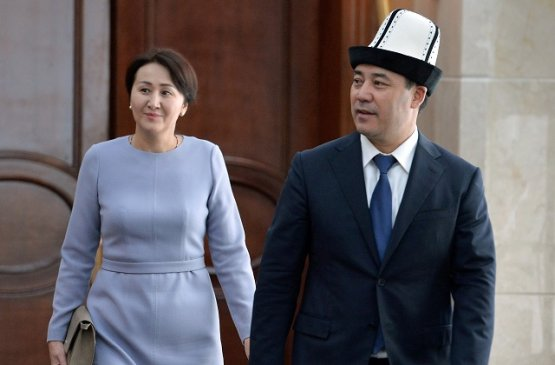 Президент Киргизии вместе с супругой провёл встречу с женщинами различных профессий