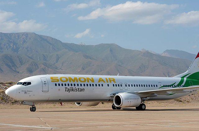 Somon Air увеличила число рейсов по маршруту Душанбе-Ташкент-Душанбе