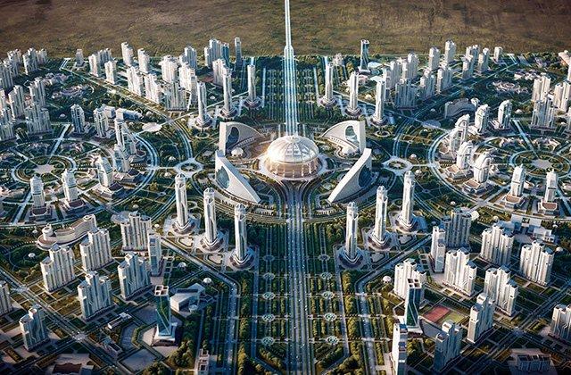 Бердымухамедов запустил строительство «Ашхабад-сити»