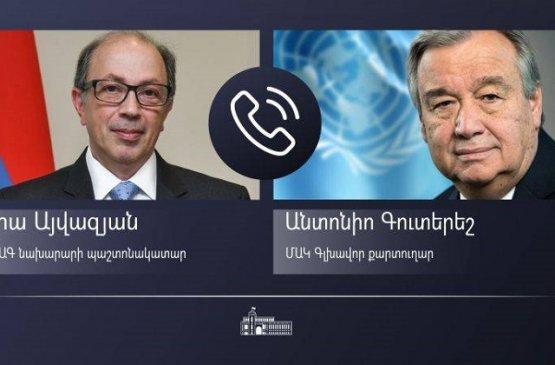 Глава МИД Армении обсудил с генсеком ООН гуманитарно-социальную ситуацию в Карабахе