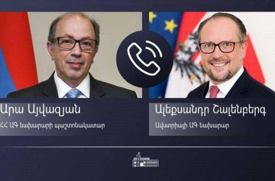 И.о. глава МИД Армении обсудил с австрийским министром ситуацию на границе