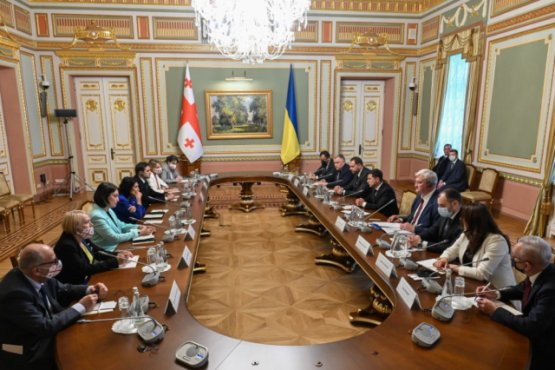 Лидеры Украины и Грузии обсудили построение стратегического партнёрства