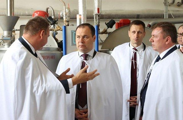 Премьер Белоруссии посетил восстановленное кондитерское предприятие