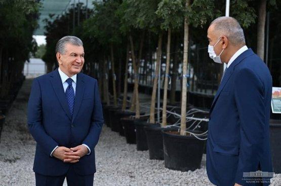 Мирзиёев ознакомился с ходом созидательной работы в парке «Новый Узбекистан»