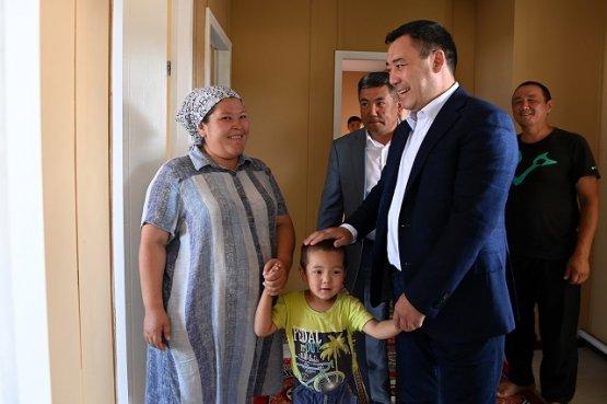 В приграничном селе Баткенской области сданы в эксплуатацию 84 жилых помещений