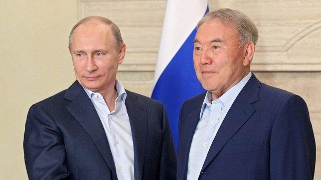 Путин обсудил сНазарбаевым сирийские переговоры вАстане