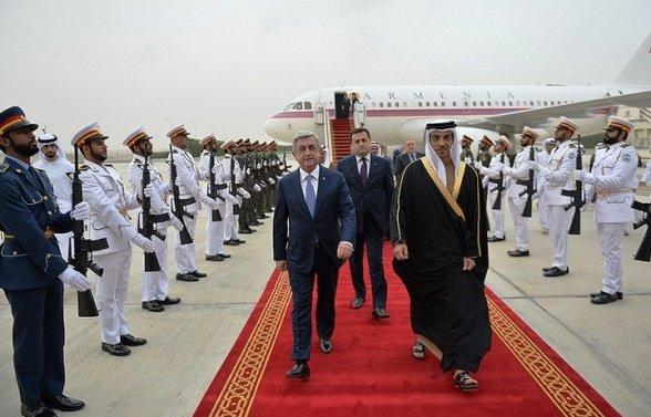 Президент Армении прибыл вОАЭ для укрепления отношений