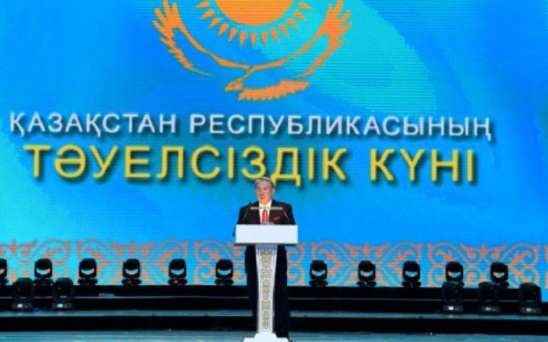 Путин поздравил Назарбаева сДнем независимости Казахстана